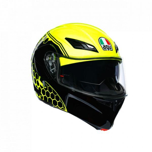 Casti Moto AGV AGV Casca Moto Flip-Up Compact St E2205 Multi Plk Detroit Yellow Fluo/Black 2021
