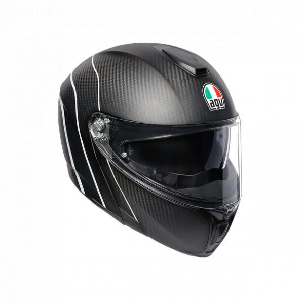 Casti Moto AGV AGV Casca Moto Flip-Up Sportmodular E05 Multi Mplk Refractive Carbon/Silver 2021