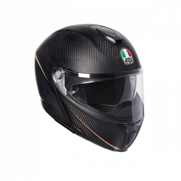 Casti Moto AGV AGV Casca Moto Flip-Up Sportmodular E05 Multi Mplk Tricolore Matt Carbon/Italy 2021