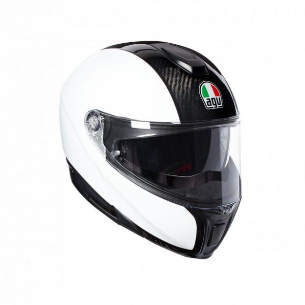 Casti Moto AGV AGV Casca Moto Flip-Up Sportmodular E05 Solid Mplk Carbon/White 2021