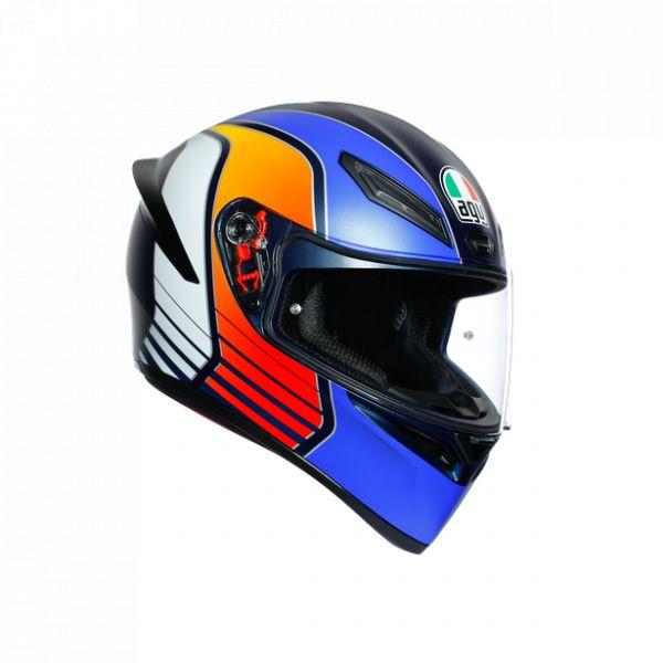Casti Moto AGV AGV Casca Moto Full-Face K1 E2205 Multi Power Matt Dark Blue/Orange/Wh 2021
