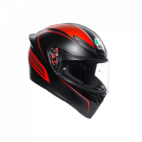 Casti Moto AGV AGV Casca Moto Full-Face K1 E2205 Multi Warmup Matt Black/Red 2021