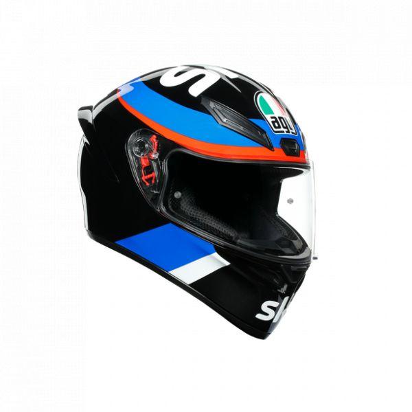 Casti Moto AGV AGV Casca Moto Full-Face K1 E2205 Replica Vr46 Sky Racing Team Black/Red 2021