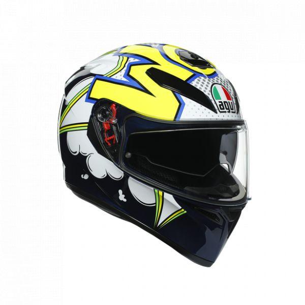 Casti Moto AGV AGV Casca Moto Full-Face K3 Sv E2205 Multi Mplk Bubble Blue/Wh/Yellow Fluo 2021