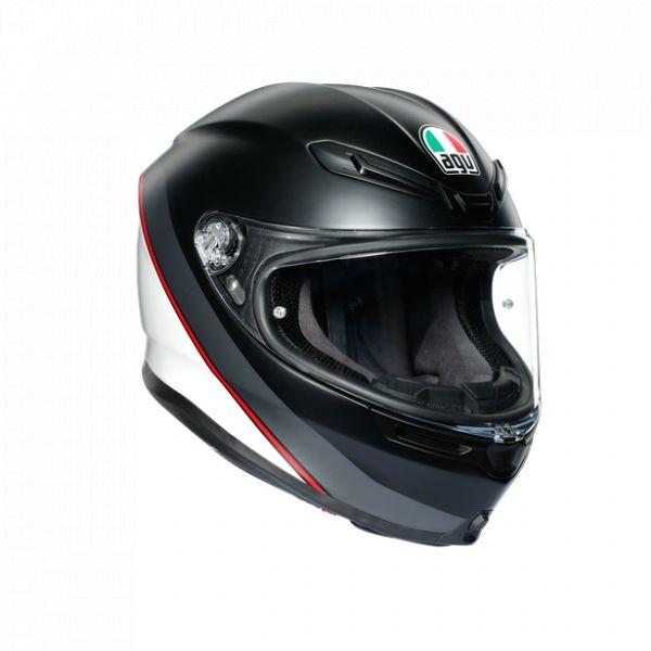 Casti Moto AGV AGV Casca Moto Full-Face K6 Ece Multi Mplk Minimal Pure Matt Black/Wh/Red 2021