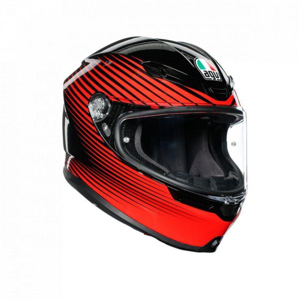 Casti Moto AGV AGV Casca Moto Full-Face K6 Ece Multi Mplk Rush Black/Red 2021