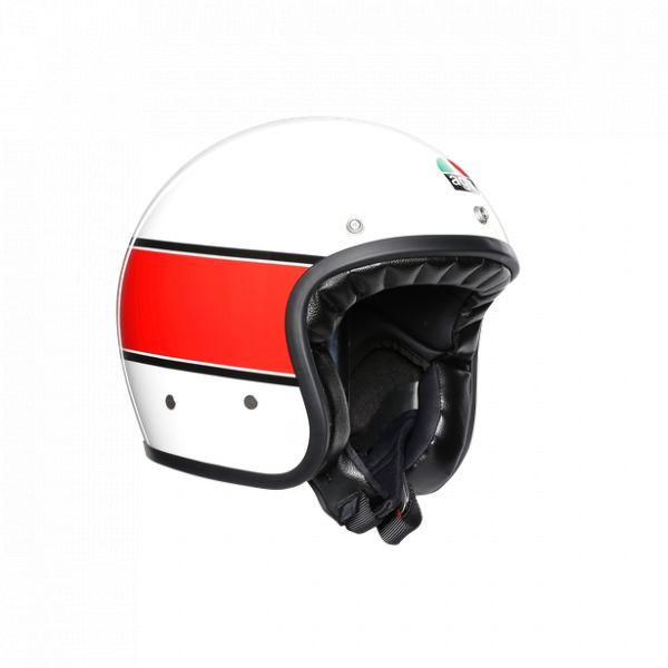 Casti Moto AGV AGV Casca Moto Jet X70 E2205 Multi Mino 73 White/Red 2021