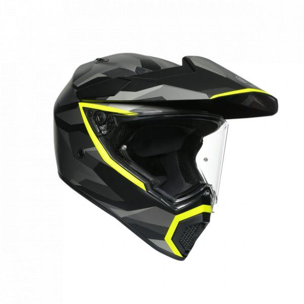 Casti Moto AGV AGV Casca Moto Touring Ax9 E2205 Multi Mplk Siberia Matt Black/Yellow Fluo 2021
