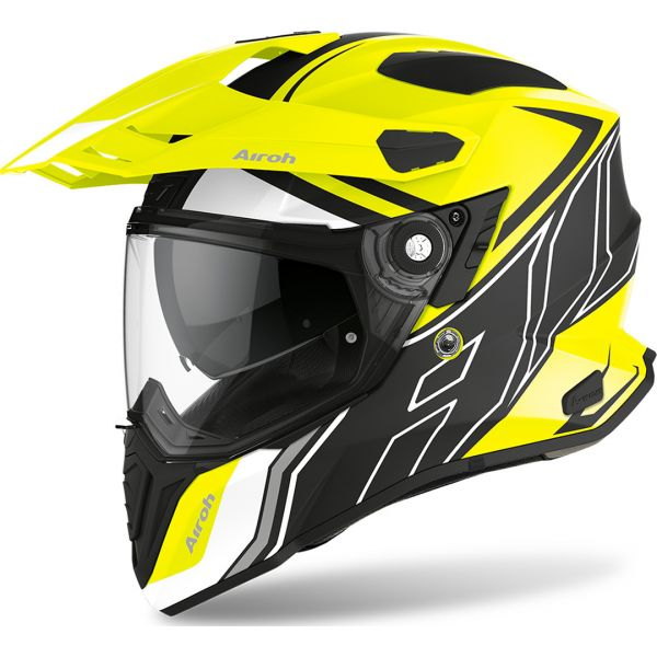 Casti ATV Airoh Casca ATV Commander Duo Yellow Gloss 2020