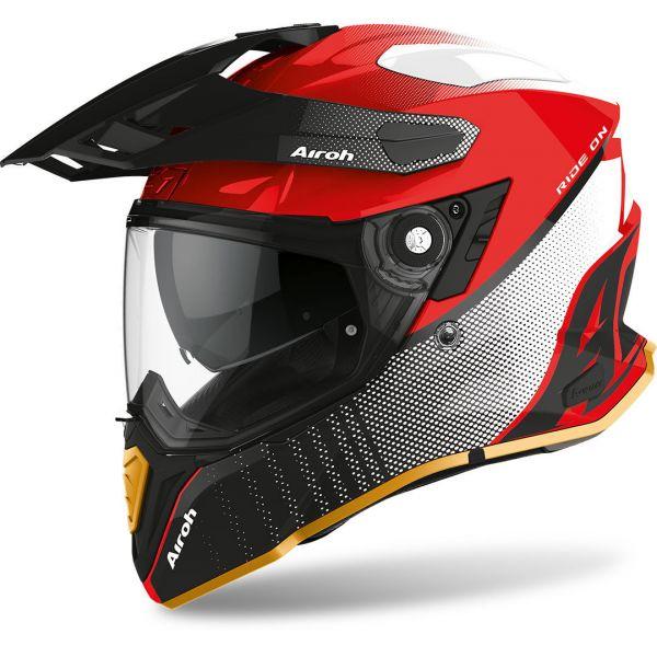 Casti ATV Airoh Casca ATV Commander Progress Red Gloss 2020