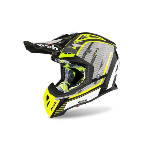 Casti MX-Enduro Airoh Casca Aviator 2.3 Glow Chrome Yellow 2020
