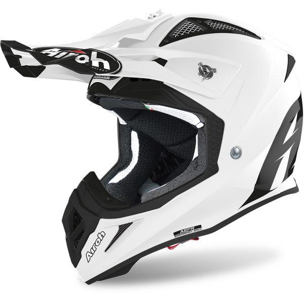 Casti MX-Enduro Airoh Casca Aviator Ace Color White Matt 2020
