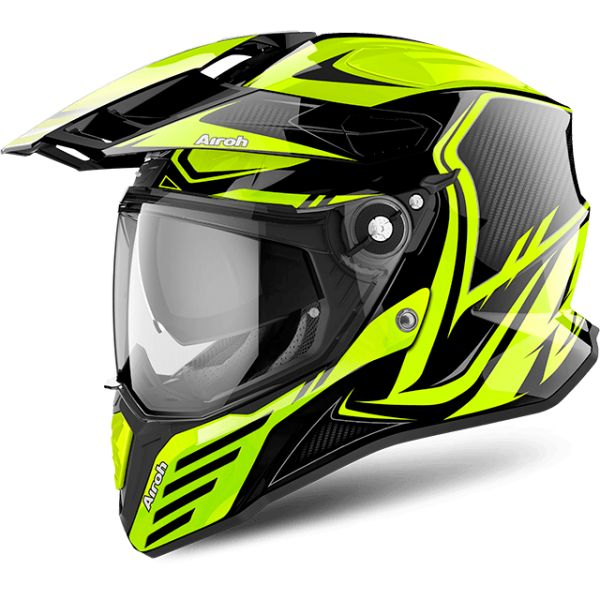 Airoh Casca Commander Carbon Yellow Gloss