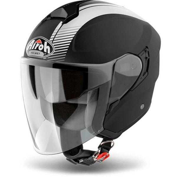 Airoh Casca Jet Hunter Simple Black Matt 2020
