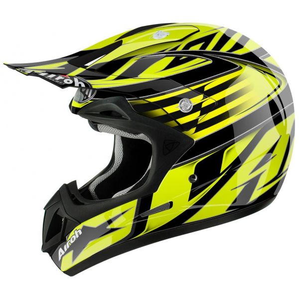 Casti MX-Enduro Airoh Casca Jumper Assault Yellow Gloss