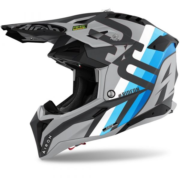 Casti MX-Enduro Airoh Casca Moto MX Aviator 3 Rainbow Anthracite 2021