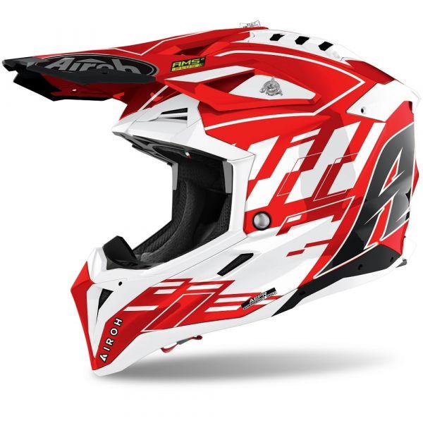 Casti MX-Enduro Airoh Casca Moto MX Aviator 3 Rampage Red Gloss 2021