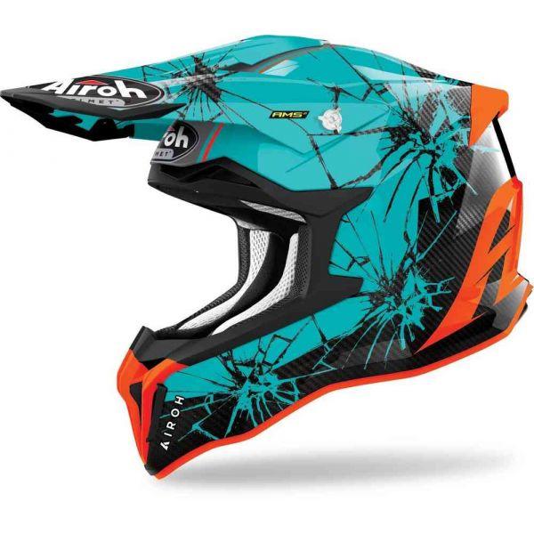 Casti MX-Enduro Airoh Casca Moto MX Strycker Crack Gloss 2021