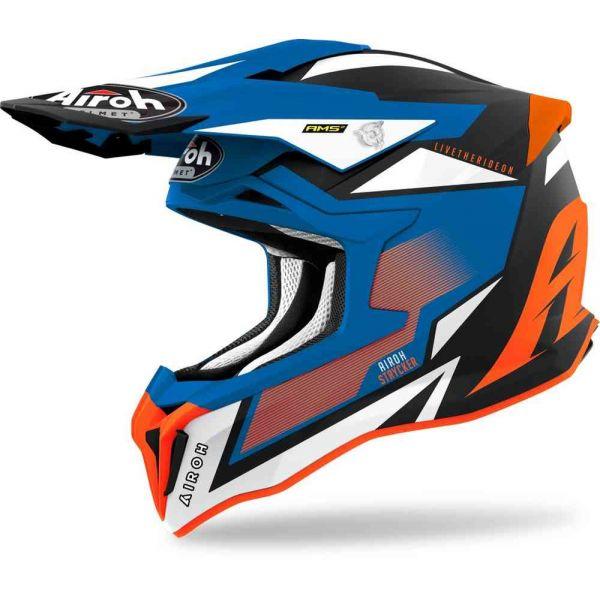 Casti MX-Enduro Airoh Casca Moto MX Strycker Orange/Blue Matt 2021