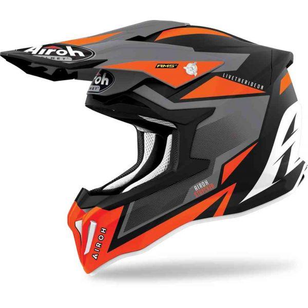 Casti MX-Enduro Airoh Casca Moto MX Strycker Orange Matt 2021
