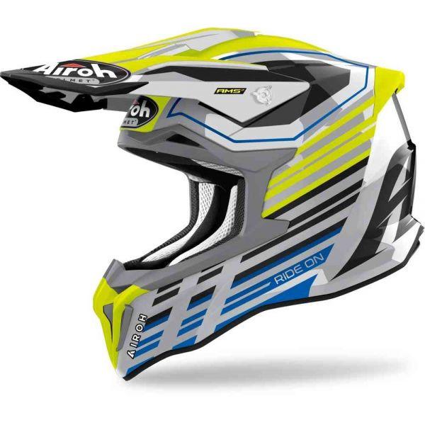 Casti MX-Enduro Airoh Casca Moto MX Strycker Shaded Yellow Glossy 2021