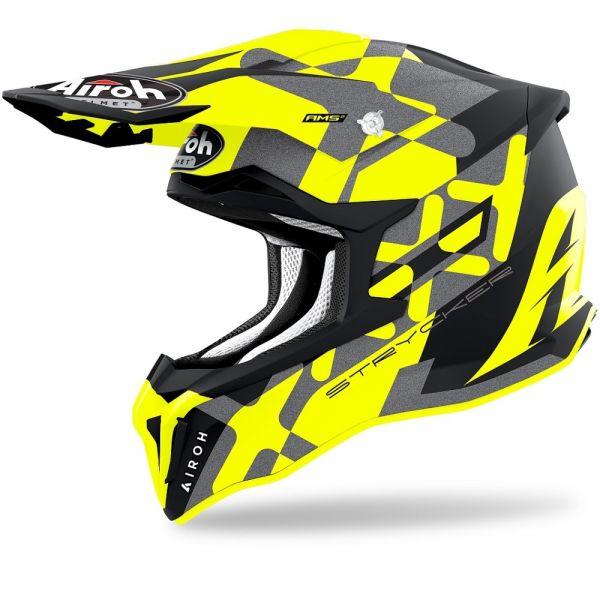 Casti MX-Enduro Airoh Casca Moto MX Strycker XXX Yellow Matt 2021