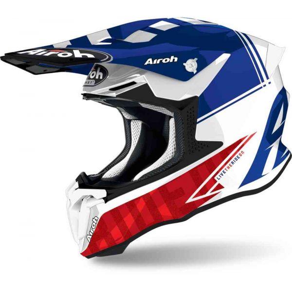 Casti MX-Enduro Airoh Casca Moto MX Twist 2.0 Tech Blue Glossy 2021