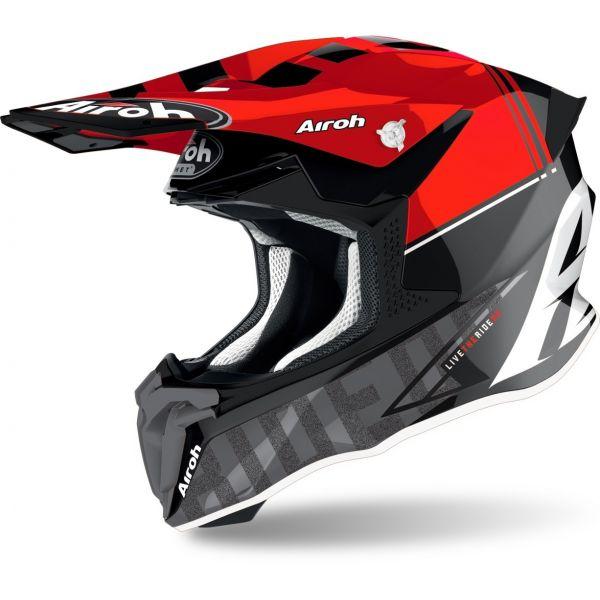 Casti MX-Enduro Airoh Casca Moto MX Twist 2.0 Tech Red Glossy 2021