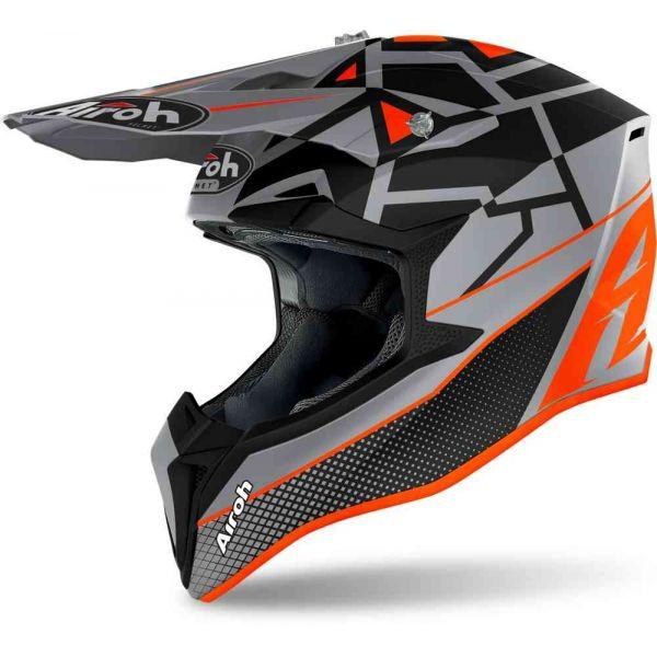 Casti MX-Enduro Airoh Casca Moto MX Wraap Mood Orange Matt 2021