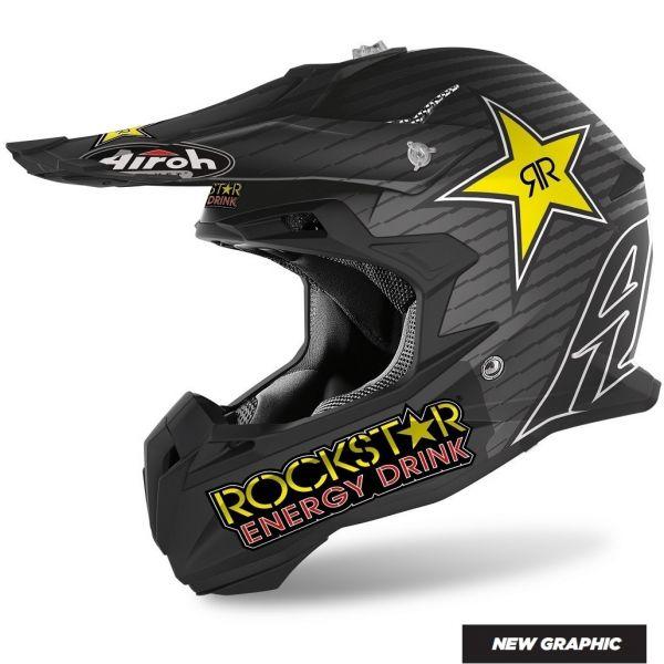 Casti MX-Enduro Airoh Casca MX Terminator Open Vision Rockstar Matt 2020