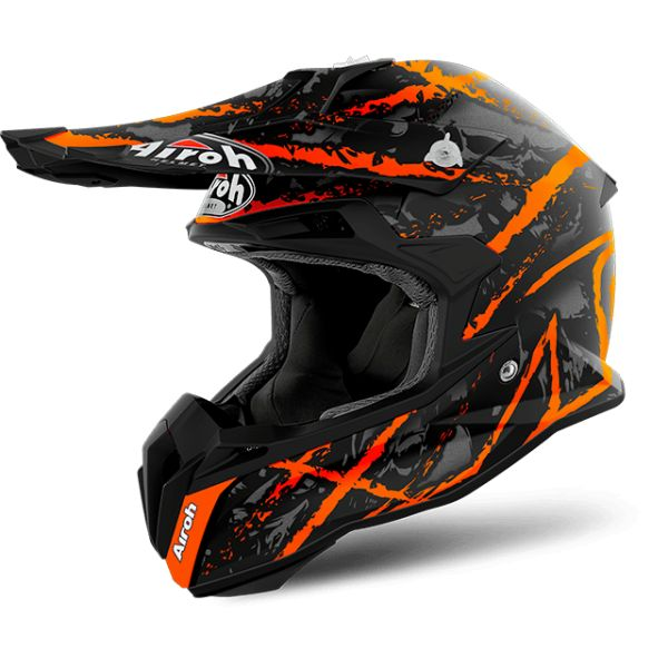 Casti MX-Enduro Airoh Casca Terminator Open Vision Carnage Orange Matt