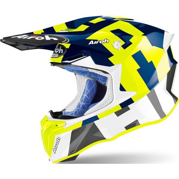 Casti MX-Enduro Airoh Casca Twist 2.0 Frame Blue Gloss 2020