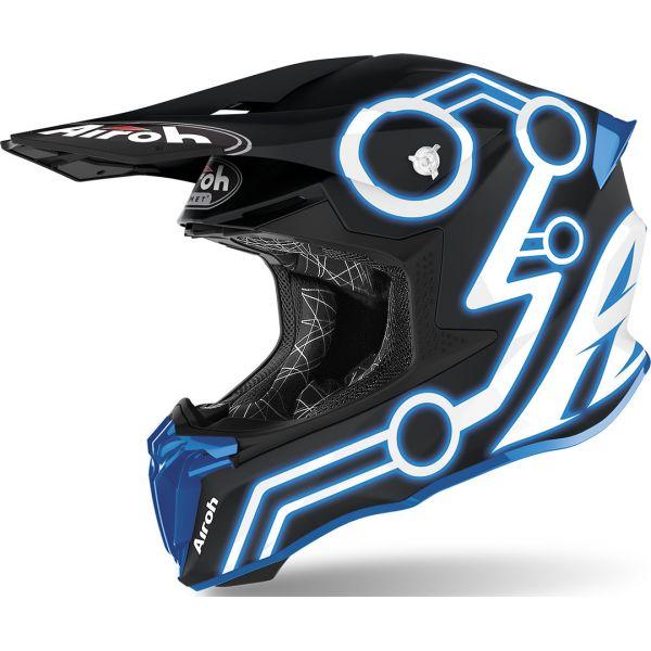 Casti MX-Enduro Airoh Casca Twist 2.0 Neon Blue 2020