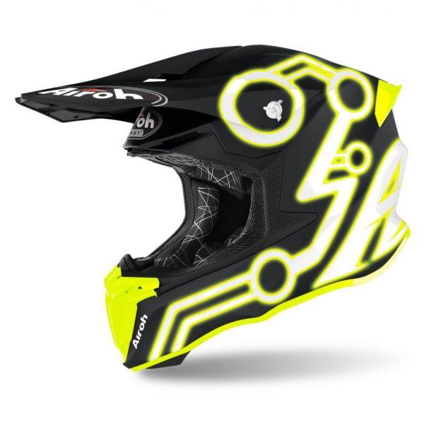 Casti MX-Enduro Airoh Casca Twist 2.0 Neon Yellow Matt 2020