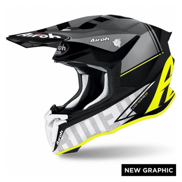 Casti MX-Enduro Airoh Casca Moto MX TWIST 2.0 TECH YELLOW MATT 2020