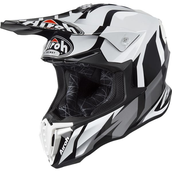 Casti MX-Enduro Airoh Casca Twist Great Gray Gloss 2019