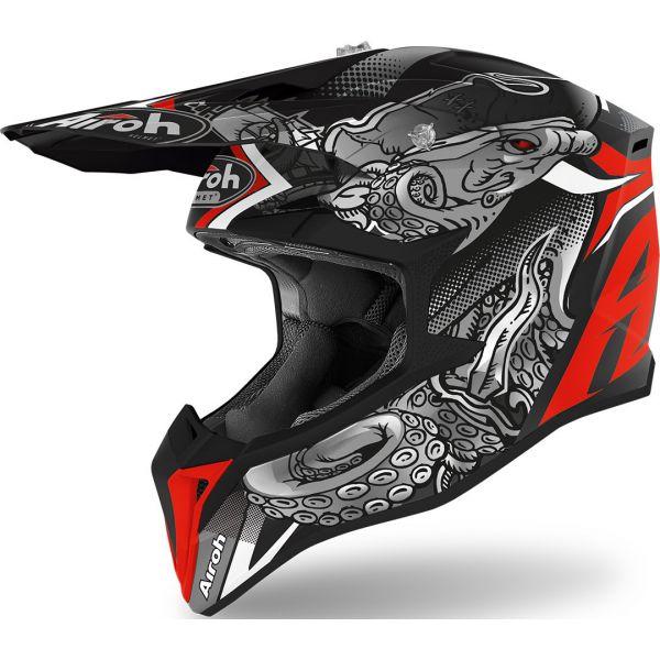 Casti MX-Enduro Airoh Casca Moto MX Wraap Octupus Matt 2020