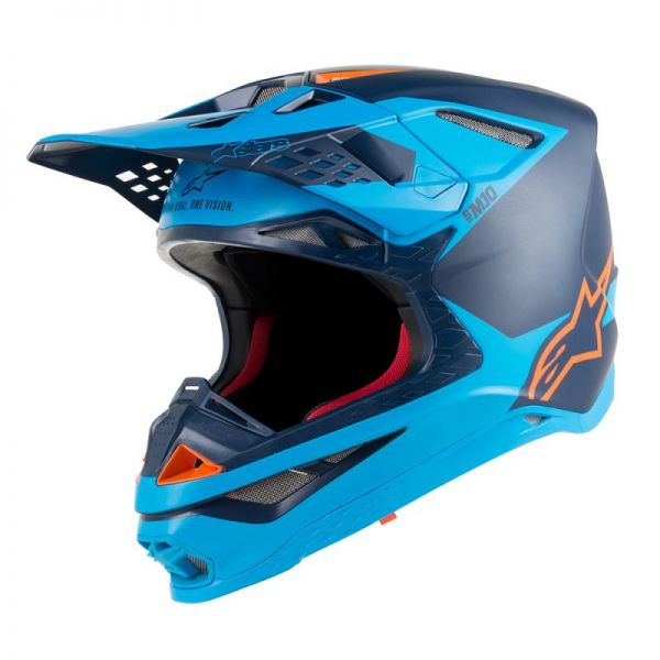 Casti MX-Enduro Alpinestars Casca Supertech M10 Meta Black/Blue S9