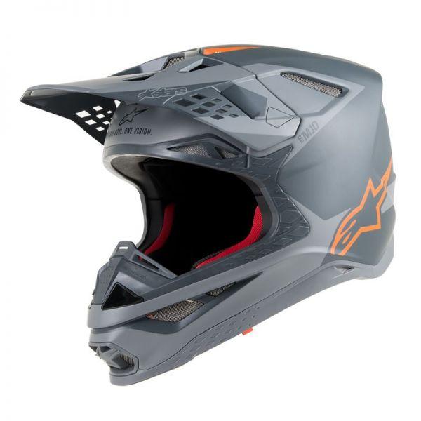 Casti MX-Enduro Alpinestars Casca Supertech M10 Meta Gray/Orange S9