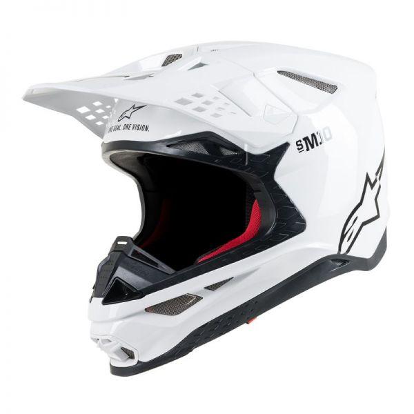 Casti MX-Enduro Alpinestars Casca Supertech M10 Solid White S9