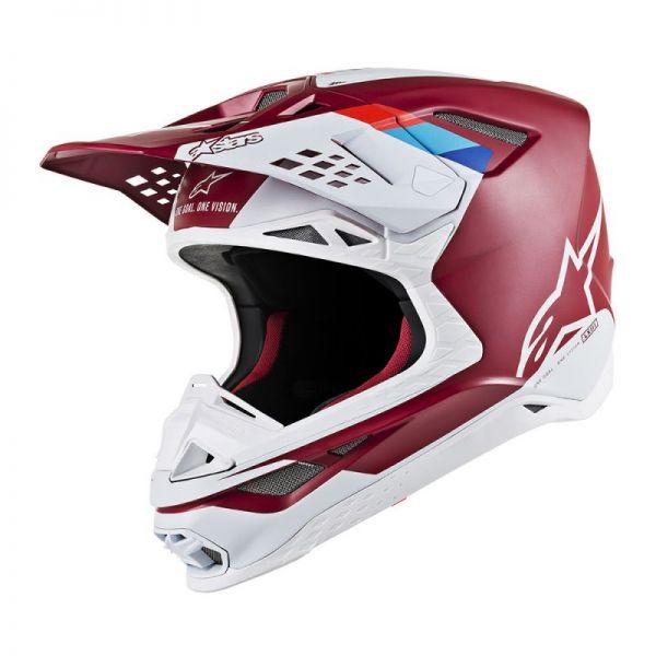 Casti MX-Enduro Alpinestars Casca Supertech M8 Contact Dark Red/White S9
