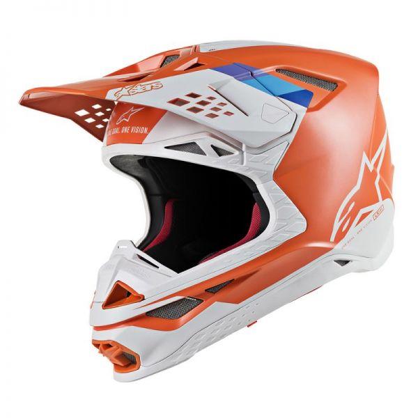 Casti MX-Enduro Alpinestars Casca Supertech M8 Contact Orange/Gray S9