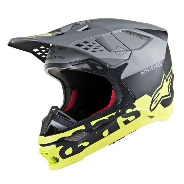 Casti MX-Enduro Alpinestars Casca Supertech M8 Radium Black Matt/Yellow S9