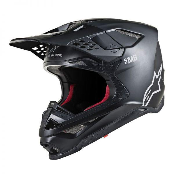 Casti MX-Enduro Alpinestars Casca Supertech M8 Solid Black Matt S9
