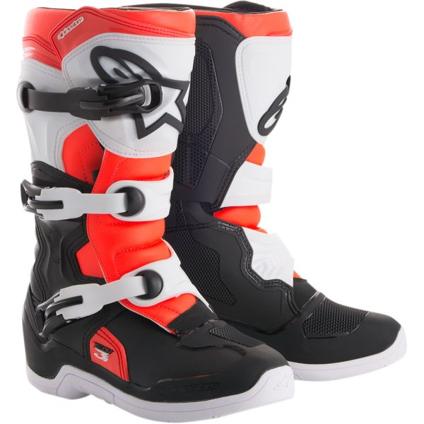 Cizme MX-Enduro Copii Alpinestars Cizme Copii Tech 3S Black/White/Red 2020