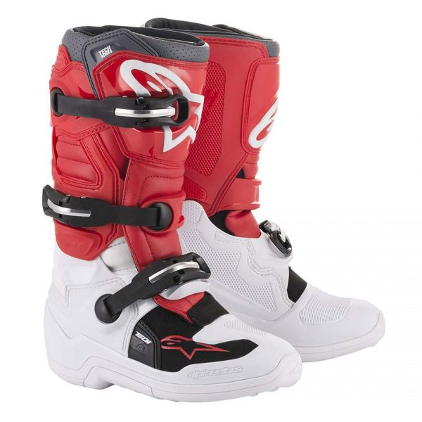 Cizme MX-Enduro Copii Alpinestars Cizme Copii Tech 7S White/Red Gray 2020