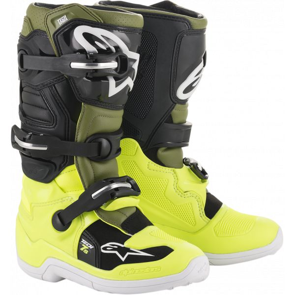 Cizme MX-Enduro Copii Alpinestars Cizme MX Copii Tech 7S Multicolor/Galben 2021
