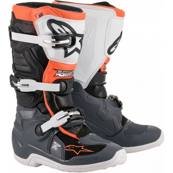 Cizme MX-Enduro Copii Alpinestars Cizme MX Copii Tech 7S Multicolor/Portocaliu 2021