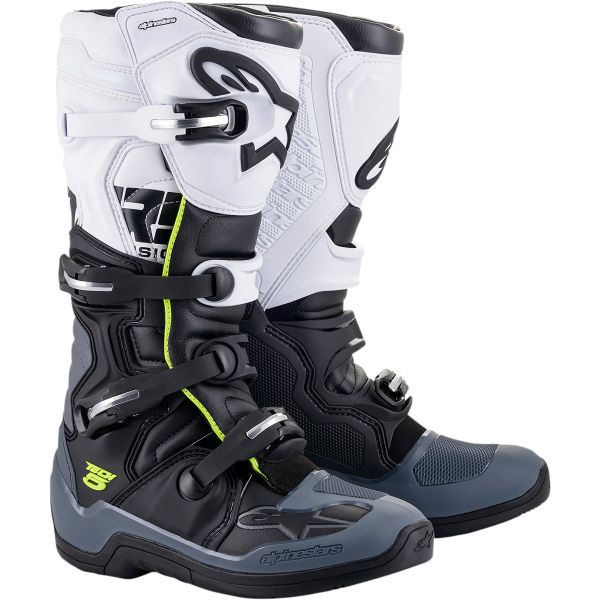 Cizme MX-Enduro Alpinestars Cizme MX Tech 5 Multicolor/Alb 2021