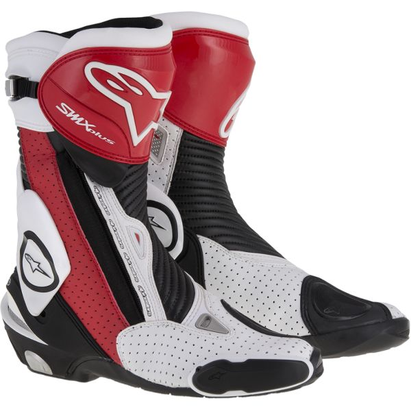 Cizme Moto - Dama Alpinestars Cizme Racing SMX Plus Black/Red/White Vented